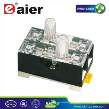 Daier FS-102 Lighted Fuse Holder For Fuse 6*30mm 2P