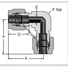 Metal Tube Elbow Ferrule Union Connector