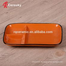 Kundenspezifische 3 keramische quadratische Plattenteller