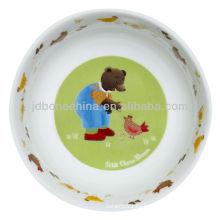 Marrón Tidy oso ambiental favorable hueso china cajas de regalo placas de cerámica para niños niños