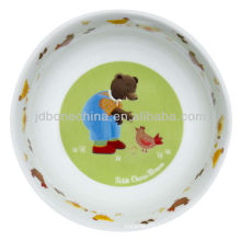 brown Tidy bear environmental friendly bone china gift boxes ceramic plates for children kids