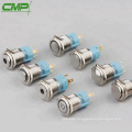 CMP momentary or latching 16mm metal led button switch