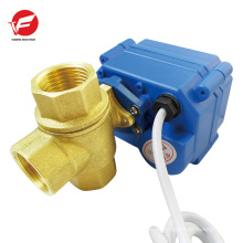 5 v 12 v 24 v CWX-15N DN15 reduziert bohrung Messing motorisierte drei way ball valve