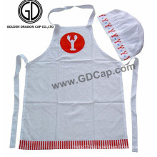 Good Design Cheap Promotional Chef Apron with Lobster Printed Hat