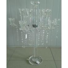 Bougeoir en cristal pour décoration maison avec onze affiches