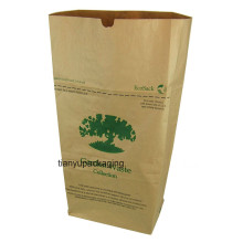 Fabrication en usine Sac en papier Kraft pour Leaf Trash