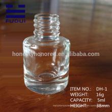 2015 custom unique empty galss nail polish bottle for wholesale