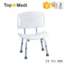 Topmedi Bathroom Safety Equipment Aluminum Plastic Bath Bench Chair
