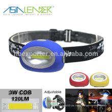 Für Nacht Angeln Wasser & Shock Resistant 3 Helligkeit Wahl 3W COB LED wiederaufladbare Scheinwerfer