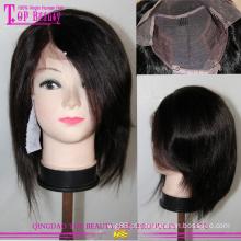 Qualidade superior da Mongólia cabelo cor #1b curto Bob perucas para mulheres negras