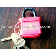 Wrapped-plastic padlock