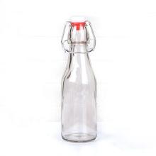 250ml round glass salad dressing bottle leak-proof swing top