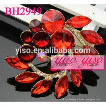 Broches de rhinestone rojo