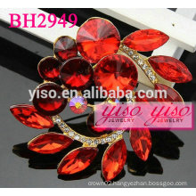 red rhinestone brooches