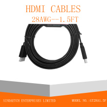 Cable plano HDMI en color negro