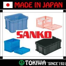 Variedad de pallets y cajas plásticos fuertes y ligeros de SANKO Co., Ltd. Hecho en Japón (caja de empaquetado de los alimentos plásticos)