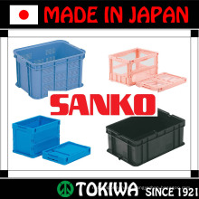 Variety of strong and light weight plastic pallets & boxes by SANKO Co., Ltd. Made in Japan (plastic food packaging box)