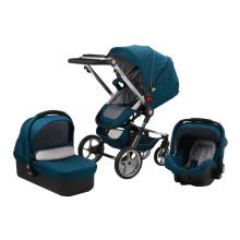 2015 Carrinho de passeio novo do bebê do projeto com a cesta a maior