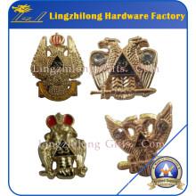 Badge de degré de métal de conception d'Eagle de franc-maçon