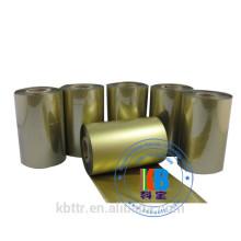 Metallic gold foil printed zebra printer thermal transfer ribbon