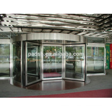 CE Approval Four-wing Automatic Revolving sliding glass door (with showcase)