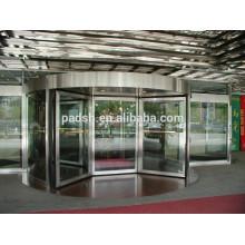 CE Утверждение Четыре-крыло Автоматическая вращающаяся стеклянная дверь (с витриной)
