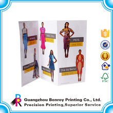 Guangzhou made hot sales luxury matt art paper custom dress brochure design