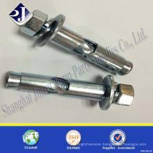 anchor bolt mild steel class 4.8 blue zinc plated