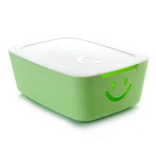 Bunte Lächeln Design Plastik Aufbewahrungsbox für Haushalt Lagerung (SLSN042)