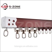 Rail à rideaux en alliage d'aluminium rond à la mode