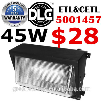 Aluminum die cast IP65 45w 60w 80w 100w 120w LED wall lighting outdoor UL DLC ETL with emergency function