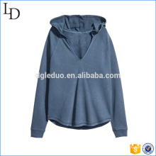 Liso com alta qualidade raglan manga atacado hoodies capuz pescoço basculador hoodies