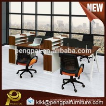 4 person office workstation with low price