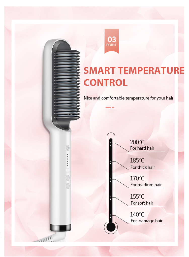 belifu ionic hair straightener brush