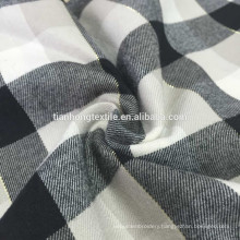 cotton flannel yarn dyed fabric /Silk twill flannelette /spun gold plaid flannelette