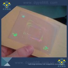 Transparente Hologramm-Überlagerungsaufkleber benutzt für Ausweiskarte