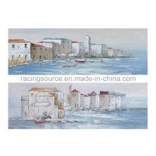 Pintura al óleo de la lona de la impresión de la lona del paisaje del mar para el arte de la pared