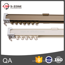 Hotel project high quality electrophoresis double curtain track with connector