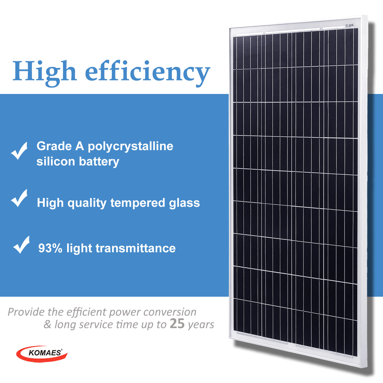 100W Poly-crystalline Solar Panel