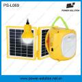 Mini qualifizierte 4500mAh / 6V Solarlaterne mit Handy-Ladegerät und Birne für Zimmer (PS-L069)