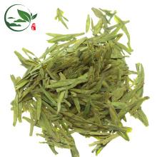 Folhas de chá verde de Longjing da montanha alta imperial feito a mão da mola / chá bom dragão