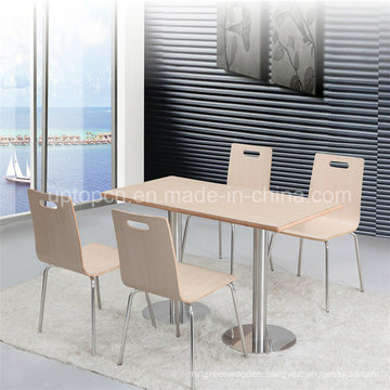 Cafeteria Laminated Plywood Restaurant Dining Table Set (SP-CT609)
