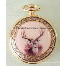 Relógios de bolso antigos do embutimento da foto para a venda
