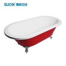 Bañera de acrílico de superficie sólida bañera independiente