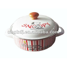 enamel cookware sets with wooden knob and full design