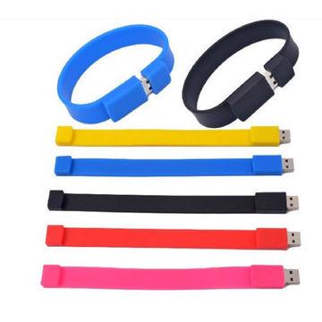 Hot Selling Bracelet Usb Flash Drive Slap wristband usb Silicone USB Wristband