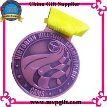 Индивидуальная металлическая медаль для спортивного события
