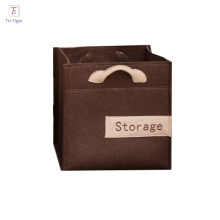 Foldable Cube Fabric Organizer Baskets felt organizer box For Storing Tools At Home