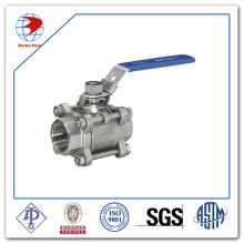 Vanne à bille en acier inoxydable 3PC en acier inoxydable haute qualité Bsp / NPT