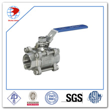 High quality Bsp/NPT Female Threaded 3PC Stainless Steel Ball Valve